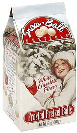 snow-ball pretzels white chocolate flavor Sunflower Food & Spice Company Nutrition info