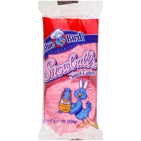 snowballs snack cakes Blue Bird Bakeries Nutrition info