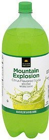 soda mountain explosion, citrus flavored Clover Valley Nutrition info
