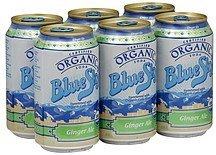 soda organic, ginger ale Blue Sky Nutrition info
