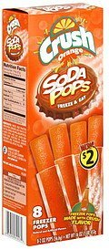soda pops Crush Nutrition info