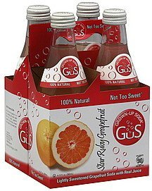 soda star ruby grapefruit GuS Nutrition info
