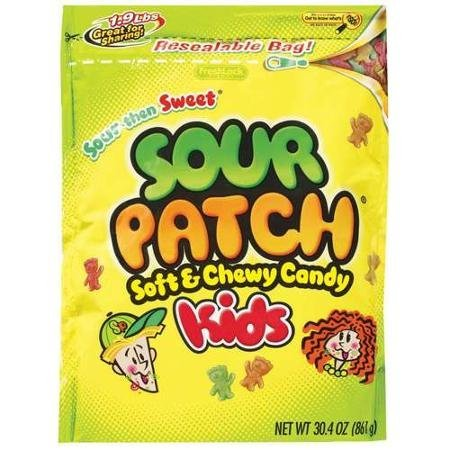 soft and chewy kids candy Sour Patch Nutrition info