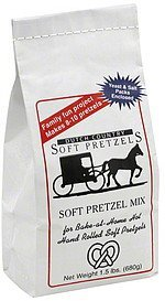 soft pretzel mix Dutch Country Soft Pretzels Nutrition info