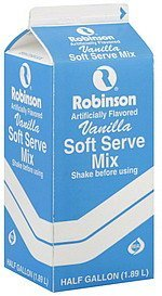 soft serve mix vanilla Robinson Dairy Nutrition info