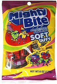 soft taffy assorted Mighty Bite Nutrition info