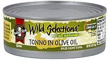 solid light tuna tonno in olive oil Wild Selections Nutrition info