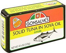 solid tuna in soya oil Gonsalves Nutrition info
