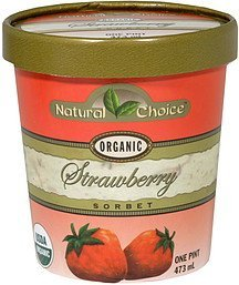 sorbet organic, strawberry Natural Choice Nutrition info