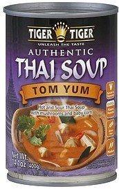 soup authentic thai, tom yum Tiger Tiger Nutrition info