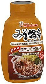 soup base blended sesame, concentrated Marukome Nutrition info