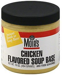 soup base chicken flavored Moirs Nutrition info