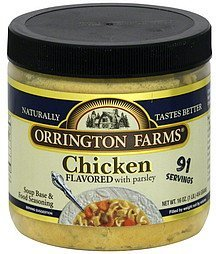 soup base & food seasoning chicken flavored with parsley Orrington Farms Nutrition info