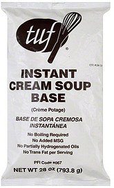 soup base instant cream Tuf Nutrition info