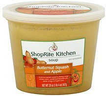 soup butternut squash and apple ShopRite Kitchen Nutrition info