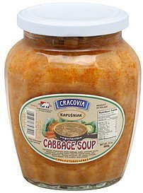 soup cabbage, vegetarian Cracovia Nutrition info