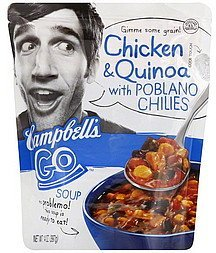 soup chicken & quinoa with poblano chilies Campbells Nutrition info