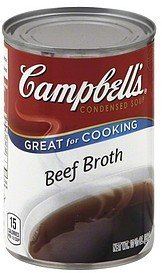 soup condensed, beef broth Campbells Nutrition info