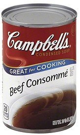 soup condensed, beef consomme Campbells Nutrition info