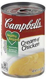 soup condensed, cream of chicken Campbells Nutrition info