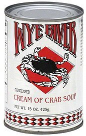 soup condensed, cream of crab Wye River Nutrition info