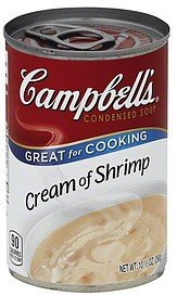soup condensed, cream of shrimp Campbells Nutrition info