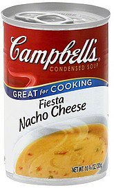 soup condensed, fiesta nacho cheese Campbells Nutrition info