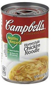 soup condensed, homestyle chicken noodle Campbells Nutrition info