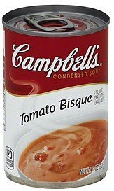 soup condensed, tomato bisque Campbells Nutrition info