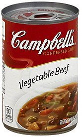 soup condensed, vegetable beef Campbells Nutrition info