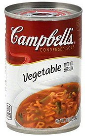 soup condensed, vegetable Campbells Nutrition info