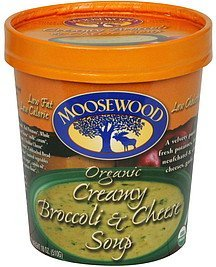 soup creamy broccoli & cheese, organic Moosewood Nutrition info