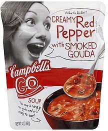 soup creamy red pepper with smoked gouda Campbells Nutrition info