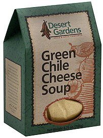 soup, green chile cheese Desert Gardens Nutrition info