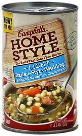 soup italian-style wedding, light Campbells Nutrition info