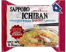 soup japanese style noodles & shrimp flavored Sapporo Ichiban Nutrition info