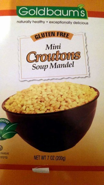 soup mandel mini croutons Goldbaums Nutrition info