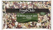 soup mix 16 bean, with ham Food Club Nutrition info