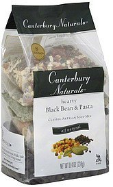 soup mix classic artisan, hearty black bean & pasta Canterbury Naturals Nutrition info
