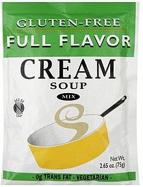 soup mix cream, gluten-free Full Flavor Nutrition info