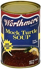 soup mock turtle Worthmore Nutrition info