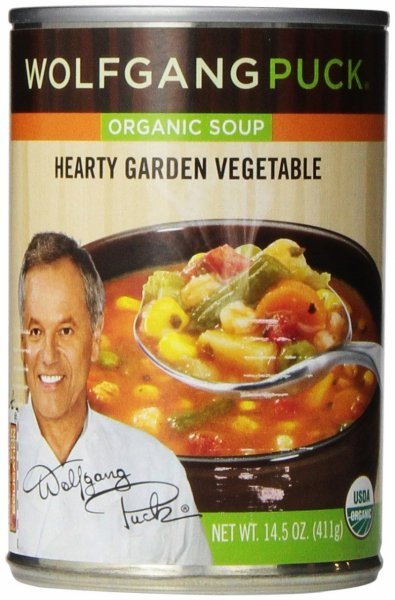soup organic, thick hearty vegetable Wolfgang Puck	 Nutrition info