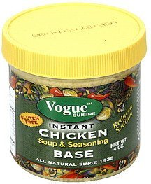 soup & seasoning chicken base, instant Vogue Cuisine Nutrition info