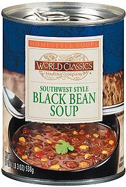 soup southwest style black bean World Classics Trading Company Nutrition info