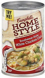 soup southwest-style white chicken chili Campbells Nutrition info