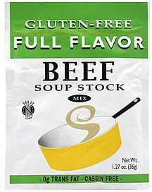 soup stock mix beef, gluten-free Full Flavor Nutrition info