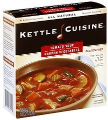 soup tomato with garden vegetable Kettle Cuisine Nutrition info