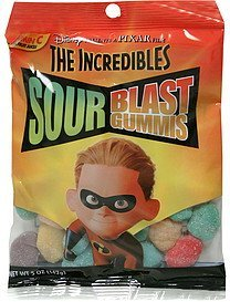 sour blast gummis the incredibles Imagination Confections Nutrition info