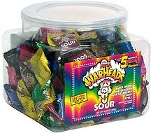 sour candy assorted flavors Mega Warheads Nutrition info