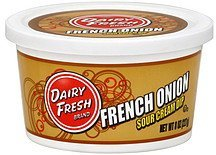 sour cream dip french onion Dairy Fresh Nutrition info